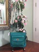 New Coach Crossbody Bag Leather Park Bright Jade Green Turnlock F49170 B6 - $94.04