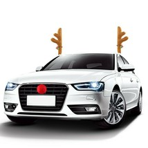 Coogam Christmas Reindeer Antler and Nose Vehicle Costume - Rudolf Red N... - $16.14