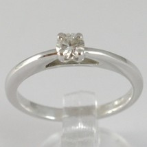 White Gold Ring 750 18K, Solitaire, Bezel Raised, Diamond Carat 0.20 image 1
