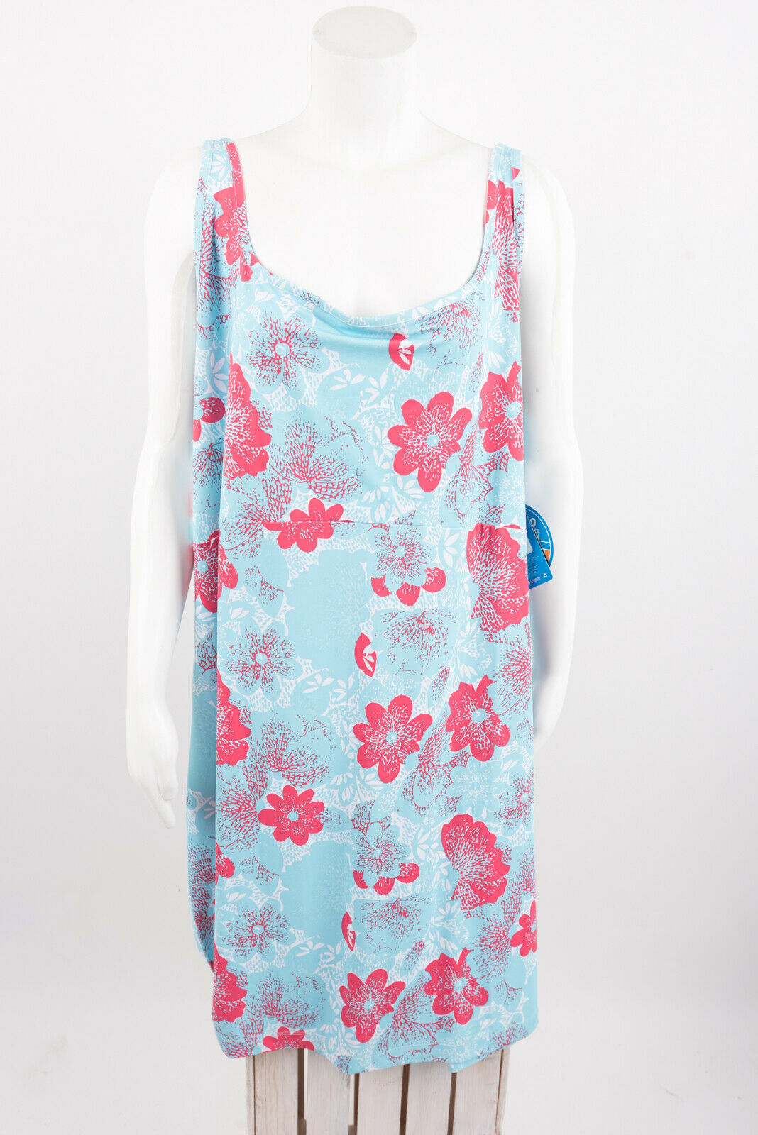 Primary image for Columbia Womens Freezer III Dress 3XL Cooling UPF 50 Blue Floral Sleeveless NWT
