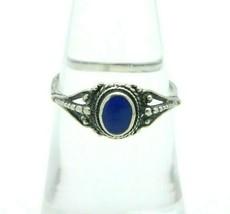 Blue Lapis Lazuli .925 Sterling Silver Ring 6 Southwest Style Vintage - $29.69