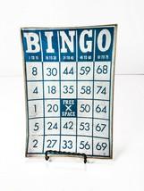 Vintage Transogram Bingo Card Glass Tray Plate Decorative Dessert Appetizer - $9.99