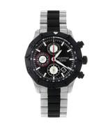 Valentino Steel Rubber Black Dial Chrono Automatic Mens Watch V40LCA9R90... - $1,399.00