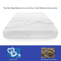 Mattress or Box Spring Protector Covers Bed Bug Proof/Water Proof Fits Mattress