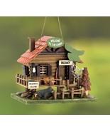 BIRDHOUSES: Rustic Woodland Log Cabin Bird House Outdoor Decor - $21.99