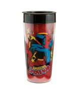 The Amazing Spider-Man Comic Art Figure 16 oz Plastic Travel Mug NEW BOXED - $5.94