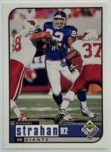 1998 Upper Deck UD Choice #118 Michael Strahan HOF Football Card #92 Giants - $3.91