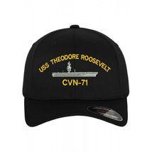 Flexfit flex fit Cap Hat USS THEODORE ROOSEVELT CVN-71 BATTLESHIP - $33.00+