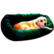 Pet Bed for Extra Large Dogs Green Color 52'' Luxurious Comfort with Wat... - $102.95