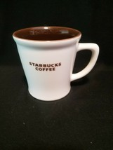 2009 Starbucks Cream & Brown Coffee Mug Ceramic New Bone China 16oz - $15.99
