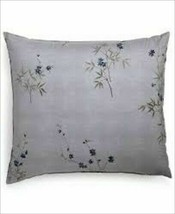 Vera Wang Shbiori Grid White ,Dragonfly Wing Green, Euro Pillow Shams Nip - $46.99