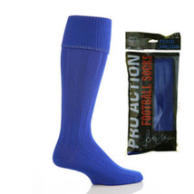 Mens Plain Football Hockey socks 6-11 uk Boot, 39-45 eur, 7-12 us  Royal... - $4.91