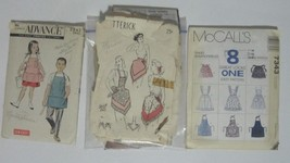 LOT OF 3 Vintage Apron Sewing Patterns - $19.95