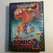 Sonic the Hedgehog 2 Sega Genesis 1992 Video Game w/case - $9.41