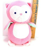 Just One You Carter Pink Baby Owl Plush Animal Toy Wind Up Musical Head ... - $22.76