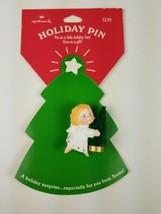 Hallmark Christmas Holiday Pin Angel Holiday Christmas Tree Green - $9.65