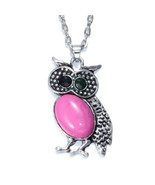 NEW Women Vintage Crystal Owl Pendant Necklace Long Chain Rhinestone Jew... - $3.96