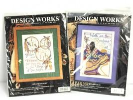2 Design Works Cross Stitch Kit Dream Catchers & Rainbow Trail New Joan Elliot - $49.49