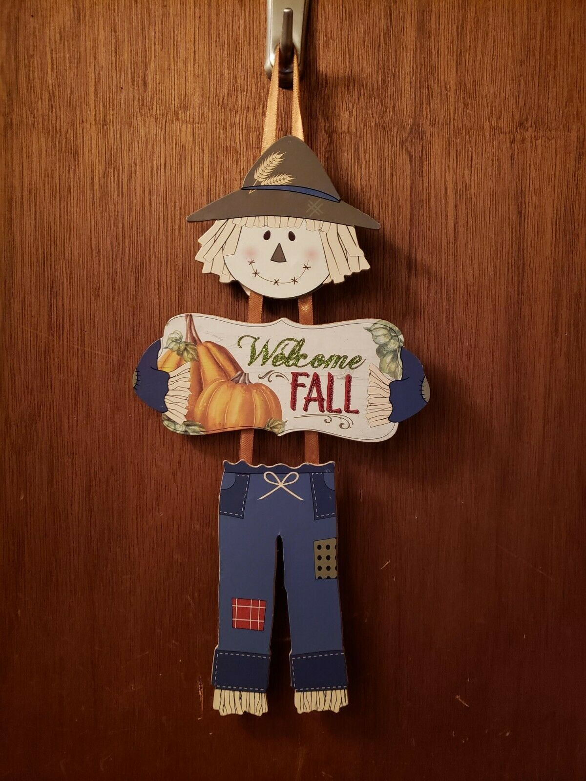 Primary image for Welcome Fall 3 Piece Scarecrow Sign - New