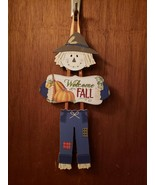 Welcome Fall 3 Piece Scarecrow Sign - New - $9.99