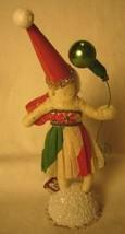 Vintage Inspired Spun Cotton Christmas Girl Ornament No. 83G image 2