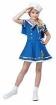 Sunny Sailor Girl Halloween Costume Dress Up Play Child S 6 - 8 Bonus Safety Lig - $35.63