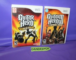 Nintendo Will Guitar Hero World Tour And Legends Of Rock Video Games  - $19.79