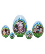"Rabbit Bungalow Nesting Eggs - 5"" w/ 5 Pieces - $33.00"