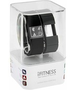 iTouch iFitness Men's Pulse Gray & Black Silicone Strap Smart #IFP5695BK... - $38.65