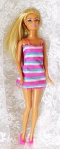 "Mattel 1999 Beach Barbie 11 1/2"" Doll Painted on One Piece Bathing Suit ... - $9.49"