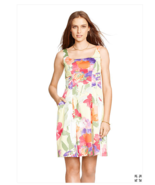 NWT WOMEN  LAUREN RALPH LAUREN  Floral Sateen Dress size 8 $129 - $35.73