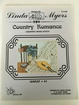 Linda Myers Country Romance Counted Cross Stitch Leaflet #41 Lilac Quilt... - $4.50