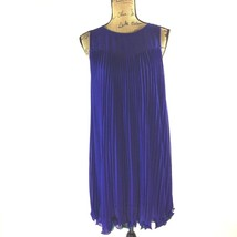 Anthropologie Dress MAEVE 2 Small Royal Blue Teal Swing Accordion Pleat ... - $24.95