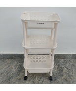 THOSOLTH  shelving 3 Tier Plastic Detachable Storage Utility Cart with W... - $39.99