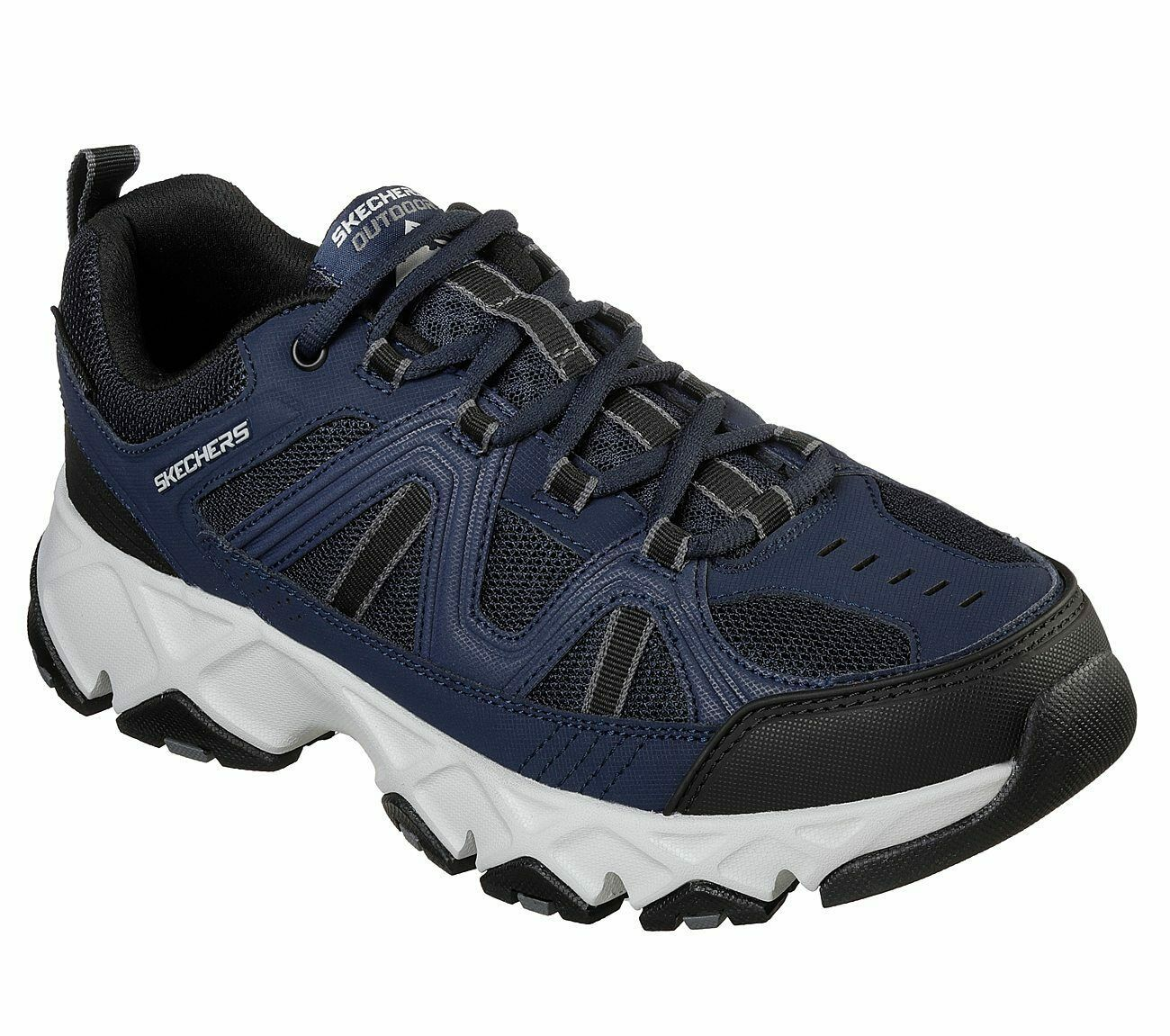 Skechers Navy Black Extra Wide Fit Shoe Men Memory Foam Sport Comfort Soft 51885
