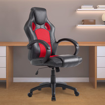 Executive Office Chair PU Leather Swivel Computer Desk Seat High-Back Red - $79.99