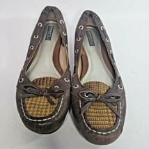 Sperry Top-Sider Angelfish Tan Brown Leather Boat Shoes Flats Women 6.5M - $32.99