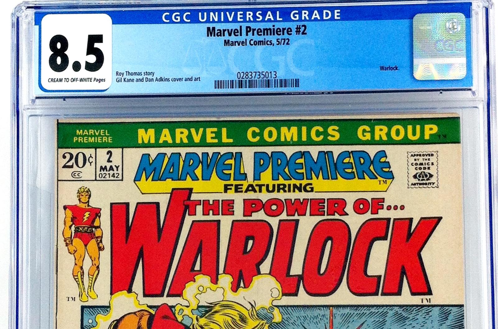 MARVEL PREMIERE #2 CGC 8.5 VF+ 1972 WARLOCK ROY THOMAS