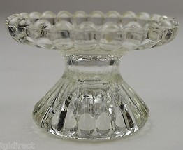 """Vintage Clear Glass Fluted Single Candlestick Holder 2.375"""" T Home Decor Candle - $9.99"""