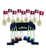 NEW! Amish-Made Deluxe Flag Croquet Golf Game Set - $449.50