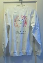 """Vintage Collectable 1988 John Lennon """"Imagine"""" Unisex White Sweatshirt Sz L - $98.00"""
