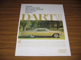 1960 Print Ad The 1961 Dodge Dart 4-Door Car Full Size - $13.57