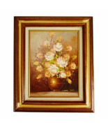 Vintage Framed Floral Still Life Oil on Canvas Painting by Robert Cox - $295.00