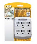Prime Wire PB801105 6-Outlet Tap with Photocell Nightlight - $7.99