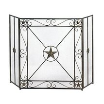 Accent Plus Decorative Fireplace Screens, Western Antique Iron Screen For Firepl - $90.99