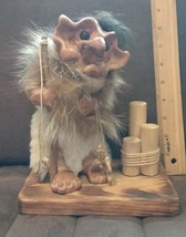 Cute about 9 inch figurine of fishing troll - $59.99