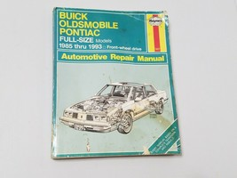 Haynes Repair Manual 1627 Buick Olds Pontiac Full Size Models fwd 1985 thru 1993 - $3.48