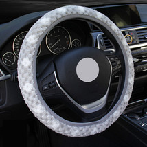 Cute Gray Car Steering Wheel Cover Women Snowflakes Cashmere Warm Winter... - $8.69