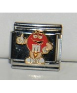 Casa DOro 9295 Red M and M Character Link Italian Charm Stainless Steel - $9.99