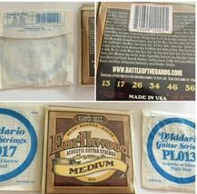 Earthwood Ernie Ball D'Addario Guitar Strings Lot of 3 Med. PL013 017  S... - $17.49